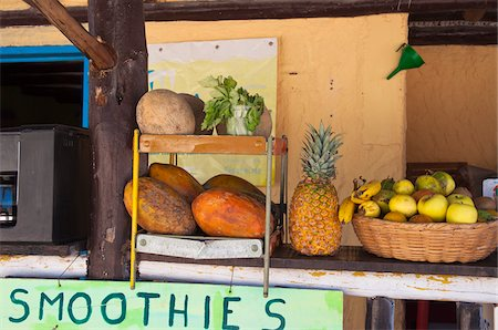 Smoothie Stand, Isla Holbox, Quintana Roo, Mexico Stock Photo - Rights-Managed, Code: 700-05854903
