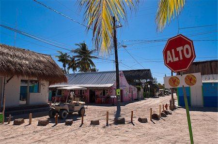 Stop Sign, Isla Holbox, Quintana Roo, Mexico Stock Photo - Rights-Managed, Code: 700-05854917