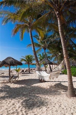 Hammock on Beach, Playa del Carmen, Quintana Roo, Mayan Riviera, Mexico Stock Photo - Rights-Managed, Code: 700-05855007