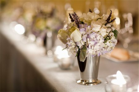 Flower Arrangement on Table Stock Photo - Rights-Managed, Code: 700-05855055