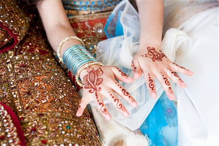 Mendhi on Girl's Hands Stock Photo - Rights-Managed, Code: 700-05855074