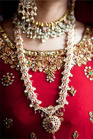 Close-Up of Bride's Jewelry Stock Photo - Rights-Managed, Code: 700-05855070