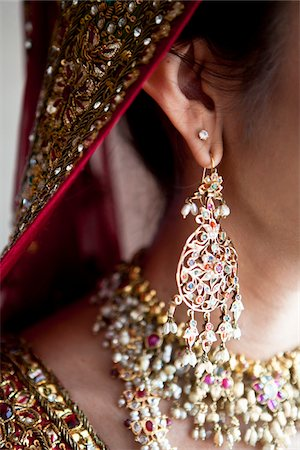 Close-Up of Bride's Earring Stock Photo - Rights-Managed, Code: 700-05855071