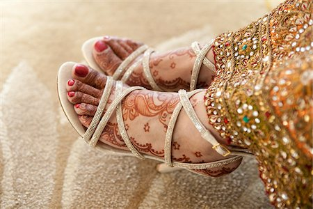 Close-Up of Bride's Feet Stock Photo - Rights-Managed, Code: 700-05855072