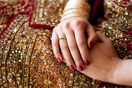 Bride's Folded Hands Stock Photo - Rights-Managed, Code: 700-05855073