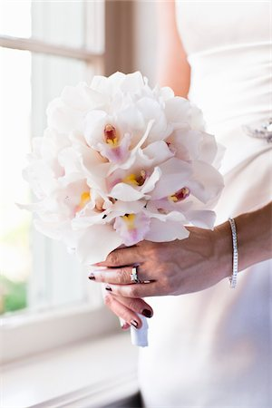ring hand woman - Bride Holding Bouquet Stock Photo - Rights-Managed, Code: 700-05855110