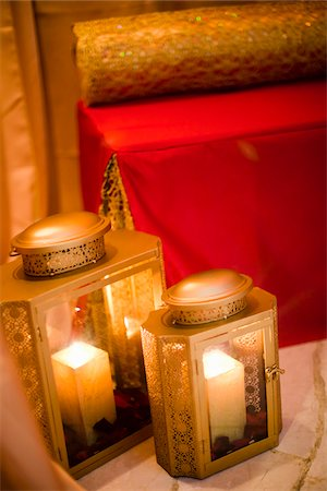 Close-Up of Candle Lanterns Stock Photo - Rights-Managed, Code: 700-05855113