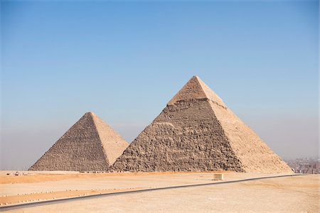 Pyramids of Giza, Cairo, Egypt Stock Photo - Rights-Managed, Code: 700-05855199
