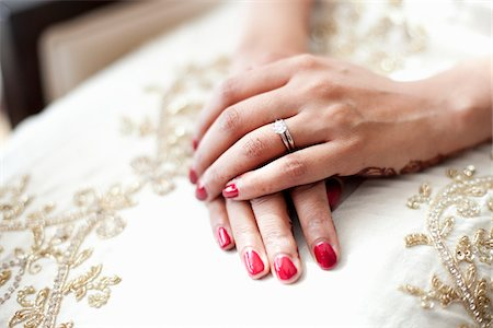 ring hand woman - Bride with Hands on Lap Stock Photo - Rights-Managed, Code: 700-05855237