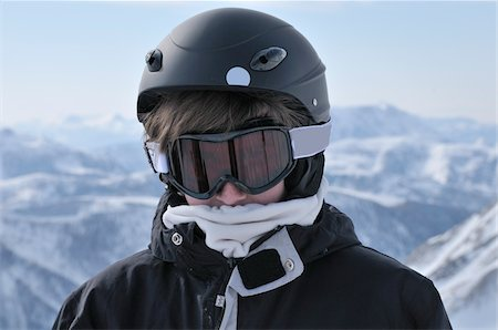Portrait of Boy Skiing, La Foux d'Allos, Allos, France Stock Photo - Rights-Managed, Code: 700-05855251