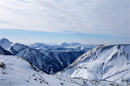 snow capped - Mountain Range, La Foux d'Allos, Allos, France Stock Photo - Rights-Managed, Code: 700-05855253