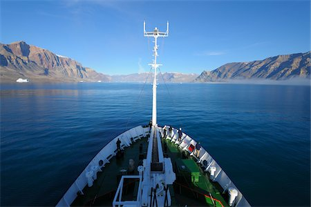 ships at sea - Expedition Vessel in Kejser Franz Joseph Fjord, Greenland Stock Photo - Rights-Managed, Code: 700-05947703