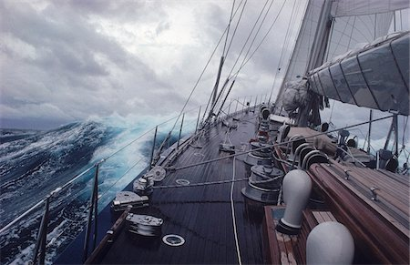 sailing boat storm - Yacht Endeavour Sailing Through Stormy Seas, Atlantic Ocean Stock Photo - Rights-Managed, Code: 700-05947858