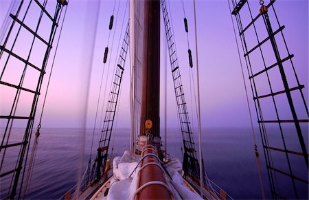 sailboat  ocean - Sailboat at Dusk Stock Photo - Rights-Managed, Code: 700-05947859
