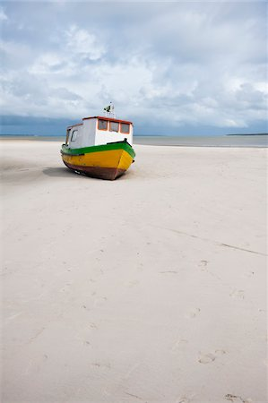 Boat on Beach, Ilha do Mel, Parana, Brazil Stock Photo - Rights-Managed, Code: 700-05947872