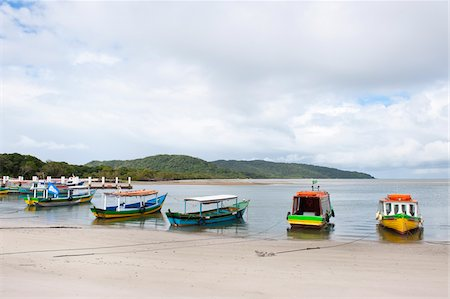 Boats on Beach, Ilha do Mel, Parana, Brazil Stock Photo - Rights-Managed, Code: 700-05947873