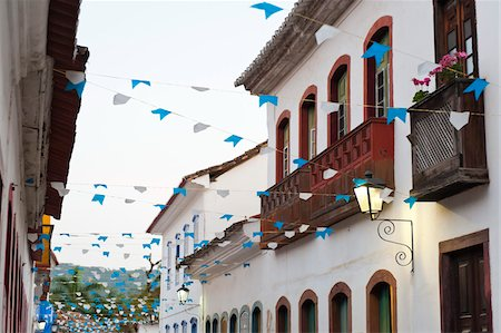 Flags and Buildings, Paraty, Rio de Janeiro, Brazil Stock Photo - Rights-Managed, Code: 700-05947880