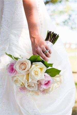 Close-Up of Bride Holding Bouquet Stock Photo - Rights-Managed, Code: 700-05948018