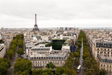 Overview of City, Paris, France Stock Photo - Rights-Managed, Code: 700-05948011