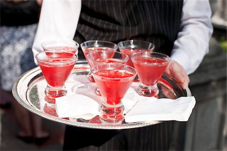 Waiter with Tray of Drinks Stock Photo - Rights-Managed, Code: 700-05948027