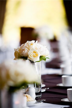 decoration - Bride's Bouquet in Vase on Table Stock Photo - Rights-Managed, Code: 700-05948020