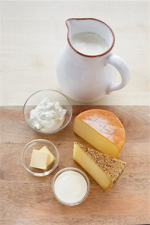 Still Life of Dairy Products Stock Photo - Rights-Managed, Code: 700-05948051
