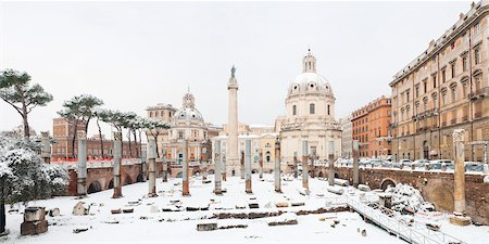 places - View of Trajan's Forum and Basilica Ulpia in Winter, Rome, Lazio, Italy Stock Photo - Rights-Managed, Code: 700-05948114