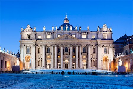 St Peter's Basilica in Winter, Vatican City, Rome, Italy Stock Photo - Rights-Managed, Code: 700-05948125