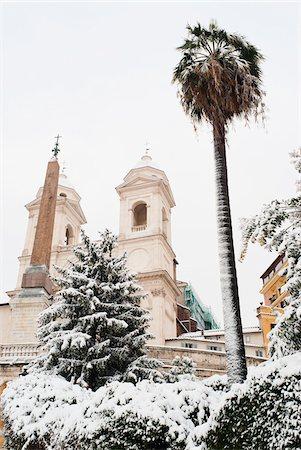 palm - Trinita dei Monti in Winter, Rome, Lazio, Italy Stock Photo - Rights-Managed, Code: 700-05948120