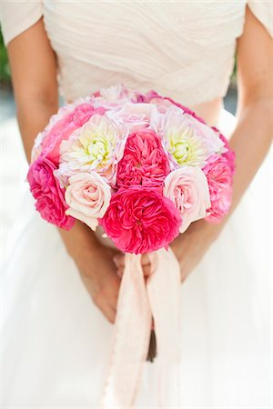 peony - Bride Holding Bouquet Stock Photo - Rights-Managed, Code: 700-05948274