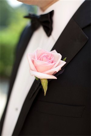 detail - Close-Up of Groom's Boutonniere Stock Photo - Rights-Managed, Code: 700-05948275