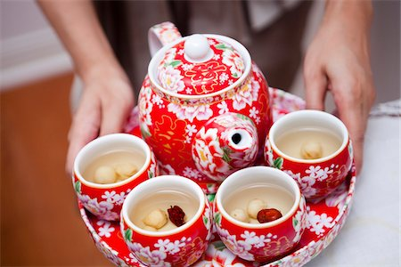 floral pattern - Tea Service as part of Chinese Wedding Ceremony Stock Photo - Rights-Managed, Code: 700-05948276