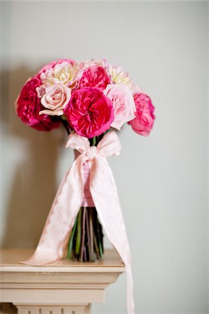 peony - Tied Bouquet on Mantle Stock Photo - Rights-Managed, Code: 700-05948273