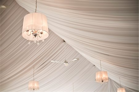 Chandeliers Hanging in Reception Hall Stock Photo - Rights-Managed, Code: 700-05948281