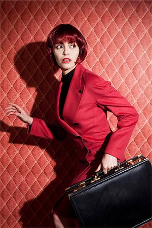 Woman with Briefcase Stock Photo - Rights-Managed, Code: 700-05974019