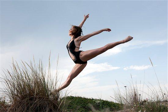 Dancer on Sand Dune Stock Photo - Premium Rights-Managed, Artist: Siephoto, Image code: 700-05974023