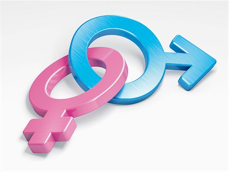 Male and Female Gender Symbols Stock Photo - Rights-Managed, Code: 700-05974047
