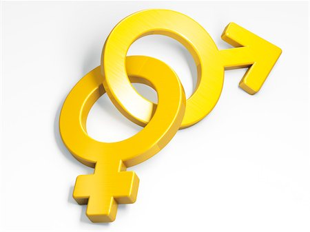 Male and Female Gender Symbols Stock Photo - Rights-Managed, Code: 700-05974048