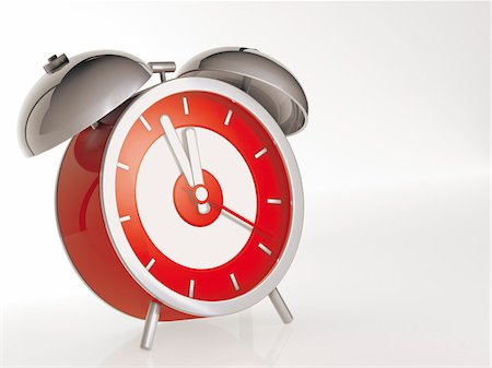Red Alarm Clock Stock Photo - Rights-Managed, Code: 700-05974049