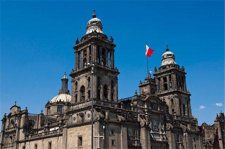 Metropolitan Cathedral, Plaza de la Constitucion, Mexico City, Mexico Stock Photo - Rights-Managed, Code: 700-05974075