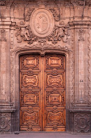 Colonial Door, Mexico City, Mexico Stock Photo - Rights-Managed, Code: 700-05974079