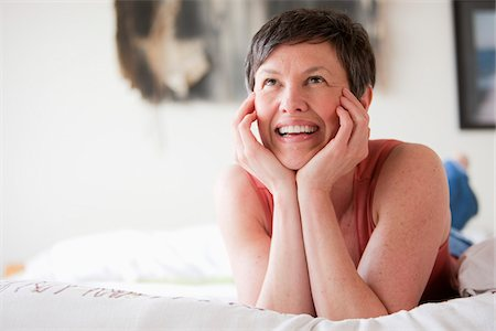 Portrait of Woman Smiling Stock Photo - Rights-Managed, Code: 700-05973284