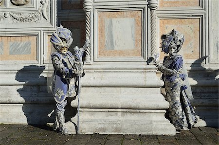 Couple in Costume During Carnival, Venice, Italy Stock Photo - Rights-Managed, Code: 700-05973339