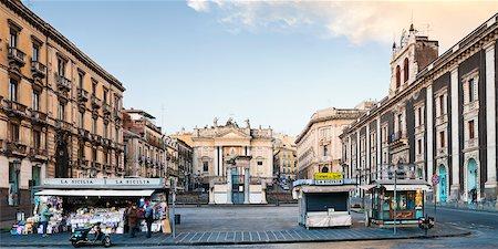 Piazza Stesicoro, Catania, Sicily, Italy Stock Photo - Rights-Managed, Code: 700-05973424