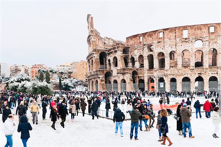 Colosseum in Winter, Rome, Lazio, Italy Stock Photo - Rights-Managed, Code: 700-05973426