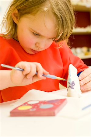 Girl Painting Ceramics Stock Photo - Rights-Managed, Code: 700-05973450