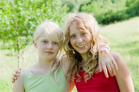 Portrait of Two Teenage Girls Stock Photo - Rights-Managed, Code: 700-05973468
