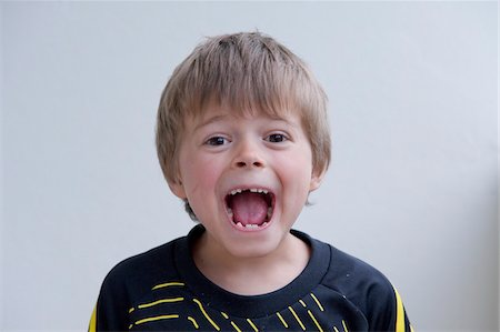Boy with Open Mouth Stock Photo - Rights-Managed, Code: 700-05973494