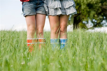 Close-Up of Girls Wearing Rubber Boots Stock Photo - Rights-Managed, Code: 700-05973517