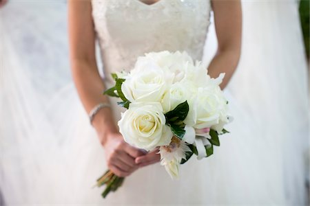 Bride Holding Bouquet Stock Photo - Rights-Managed, Code: 700-05973599
